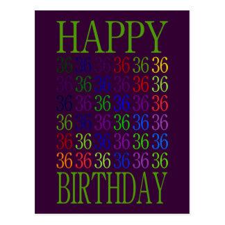 Carte Postale Joyeux trente-sixième anniversaire