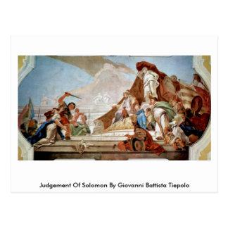Carte Postale Jugement de Solomon par Giovanni Battista Tiepolo
