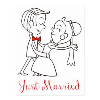 Carte Postale Juste faire-part marié de mariage de jeunes mariés
