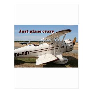 Carte Postale Juste fou plat : Avions de biplan de Waco