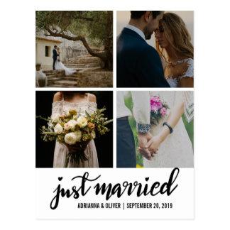 Carte Postale Juste photo manuscrite mariée de mariage de