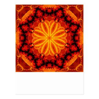 Carte Postale Kaléidoscope orange flamboyant