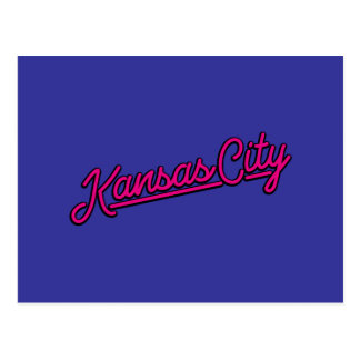 Carte Postale Kansas City en magenta