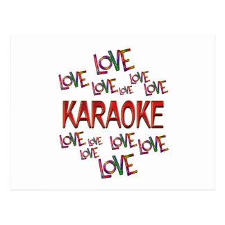 Carte Postale Karaoke d'amour d'amour