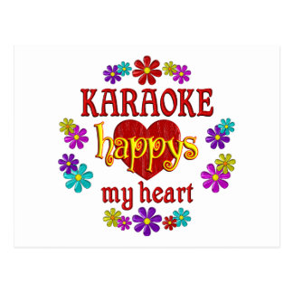 Carte Postale Karaoke heureux
