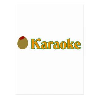 Carte Postale Karaoke olive