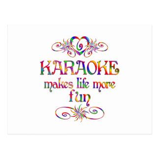 Carte Postale Karaoke plus d'amusement