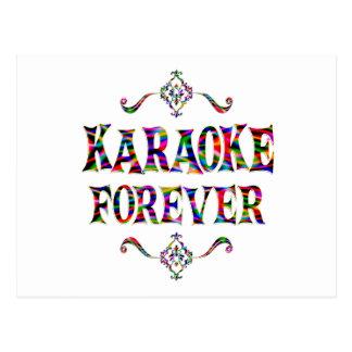 Carte Postale Karaoke pour toujours