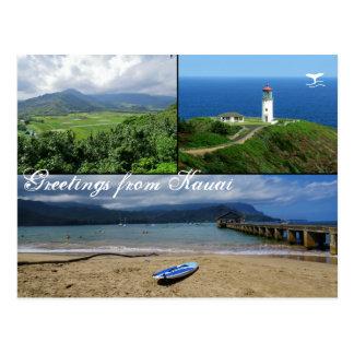 Carte Postale Kauai, Hawaï, baie de Hanalei, phare de Kilauea
