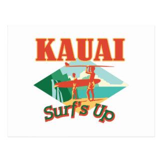 Carte Postale Kauai surfe