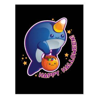 Carte Postale Kawaii Halloween Narwhal