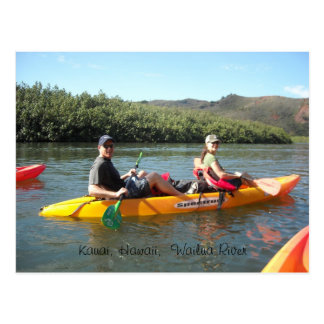 Carte Postale Kayaking sur la rivière de Wailua