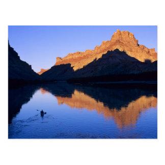 Carte Postale Kayaking sur le fleuve Colorado dans l'Espagnol