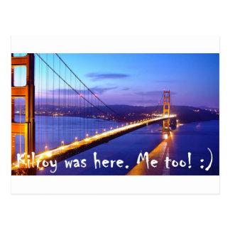 Carte Postale Kilroy et moi à San Francisco