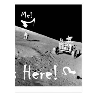 Carte Postale Kilroy et moi sur la lune