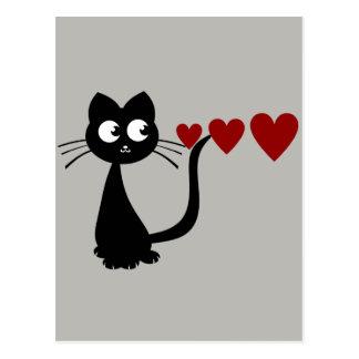 Carte Postale Kitty voit l'amour II