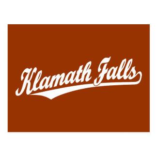 Carte Postale Klamath tombe logo de manuscrit dans le blanc