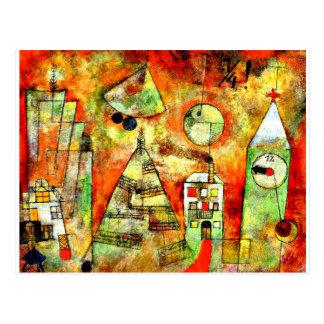 Carte Postale Klee - heure fatidique au quart à douze