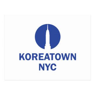 CARTE POSTALE KOREATOWN NYC