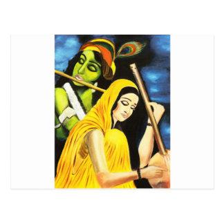 Carte Postale Krishna et Meera
