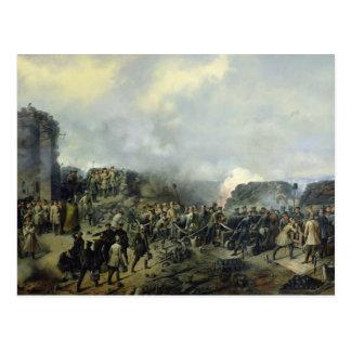 Carte Postale La bataille Français-Russe chez Malakhov Kurgan
