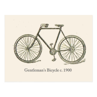 Carte Postale La bicyclette 1920 du monsieur