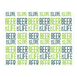 Carte Postale La bière est amour, bière est la vie