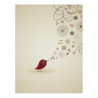Carte Postale La birdie chante