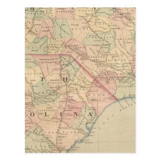Carte Postale La Caroline du Nord et la Caroline du Sud