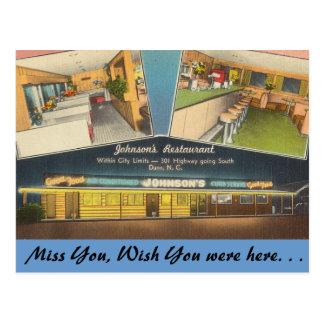 Carte Postale La Caroline du Nord, le restaurant de Johnson,