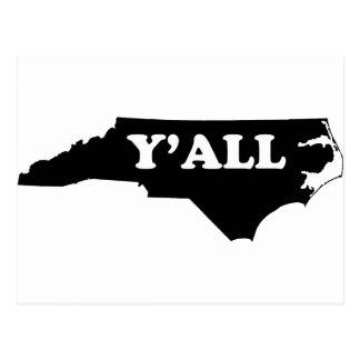 Carte Postale La Caroline du Nord Yall