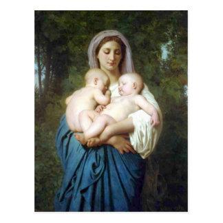 Carte Postale La charité par William-Adolphe Bouguereau