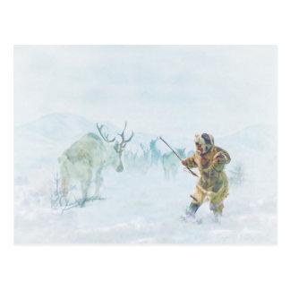 Carte Postale La chasse à caribou par le Mac de Shawna