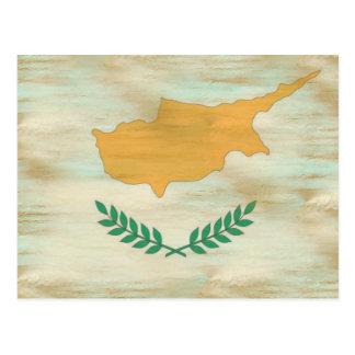 Carte Postale La Chypre a affligé le drapeau chypriote