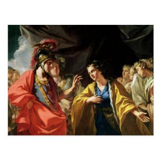 Carte Postale La clémence d'Alexandre le grand