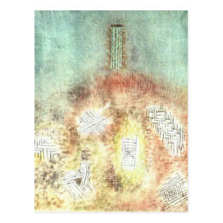Carte Postale La colonne par Paul Klee
