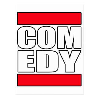 Carte Postale la comédie comique drôle tiennent le comédien