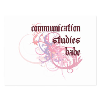 Carte Postale La communication étudie le bébé