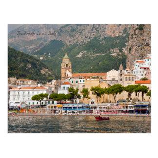 Carte Postale La côte d'Amalfi de la mer