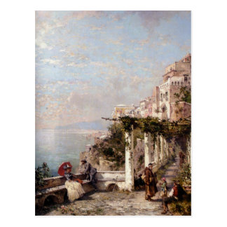 Carte Postale La côte d'Amalfi par Franz Richard Unterberger