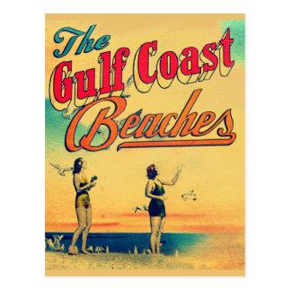 Carte Postale La Côte du Golfe vintage la Floride échoue la