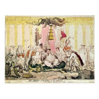 Carte Postale La cour à Brighton un Chinois de La, 1816