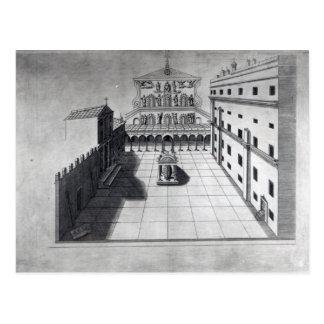 Carte Postale La cour de belvédère à Rome de vieux St Peter
