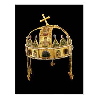 Carte Postale La couronne sainte de la Hongrie, 11ème-12ème