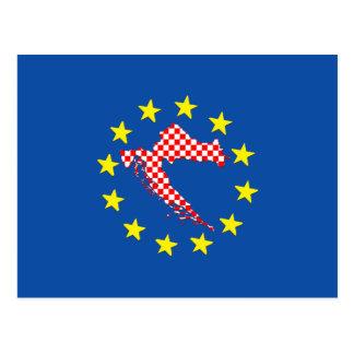 Carte Postale La Croatie à l'UE