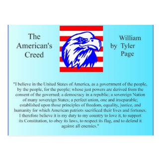 Carte Postale La croyance de l'Américain