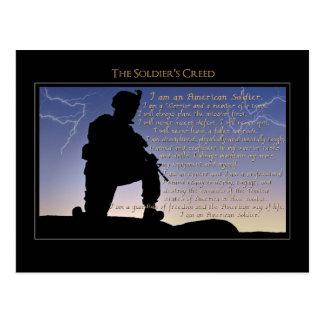 Carte Postale La croyance du soldat