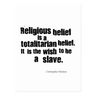 Carte Postale La croyance religieuse est une croyance