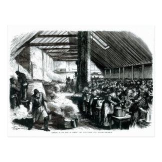 Carte Postale La cuisine de soupe à Spitalfields, 1867