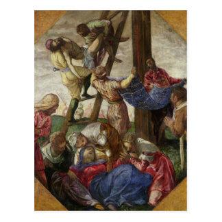 Carte Postale La descente de la croix, c.1560-65